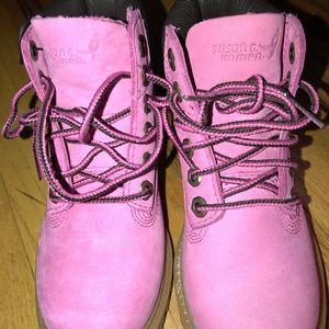 Toddler Pink Timberlands